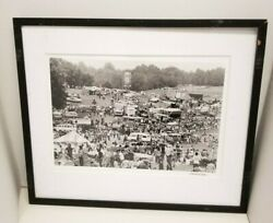 Baron Wolman Signed Photograph Picture 50th Anniversary 1969 Woodstock The Camp