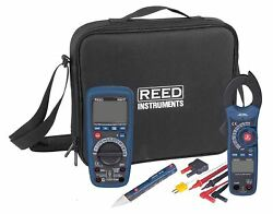 Reed St-hvackit 7-piece Hvac Combo Kit With Multimeter Clampmeter Voltage Dete