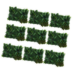9Sets Artificial Turf Foliage Plants Wall Panels for Stage Background Decors