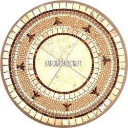 White Marble Beautiful Marble Dining Inlay Table Top Handcarved Rare Decor H3954