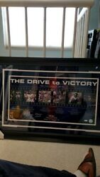 Eli Manning Sign Giants The Drive To Victory Filmstrip Collage 12x23 Steiner
