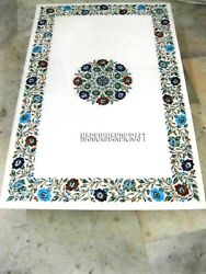Stone Of Fine Beautiful Marble Table Floral Top Inlay Rare Decorative Arts H3281