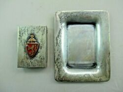 Antique Christoph Widmann Sterling Silver Guilloche Match Box And Tray Norway 836c