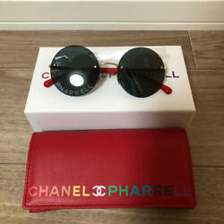 Chanel and Farrell Collaboration Limited Round Sunglasses New Red Frame 3ce7MN