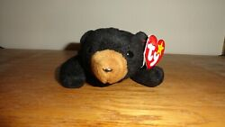 Beanie Babies-blackie The Black Bear- Dob 7/15/94-rare Find-collectable