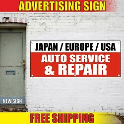 Auto Service Repair Banner Advertising Vinyl Sign Flag Japan Europe Usa Foreign