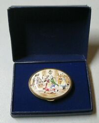 Bilston And Battersea Halcyon Days 1973 Oval Enamel Christmas Box Limited Edition