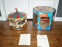 Mr. Christmas Collectibles Holiday Fair Animated Lighted Carousel Merry Go Round