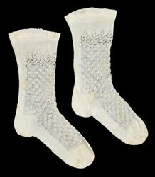 Antique Finely Knitted Baby Socks Queen Victoria Leopold Duke Of Albany