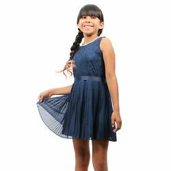 Girl Story - Navy Blue Sleeveless Short Floral Lace Patteren Top With Bowtie ...