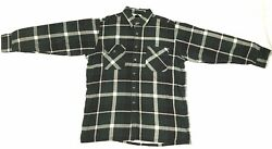 DAVID TAYLOR Flannel Long Sleeve Men's Shirt Size Large Thermal Lined