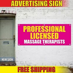 Massage Therapists Banner Advertising Vinyl Sign Flag Professional Licensed Spa