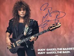 Rudy Sarzo Quiet Riot Autographed Signed Vintage Peavey Bass Store Poster