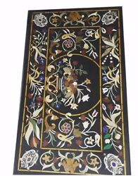 48 X 24 Pietra Dura Home Decor Handmade Inlay Floral Work Marble Table Top