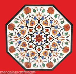 24 Marble Table Top White Pietra Dura Inlay Art Craft Work Home Decor Gifts