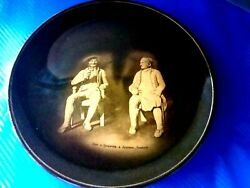 Antique English Ceramic Wall Plaque Decorplate Ridgway Tan Oand039shanter Collectible