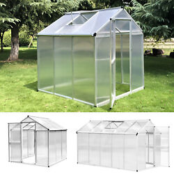 6and039 L/10and039 L Portable Outdoor Walk-in Cold Frame Garden Greenhouse Planter