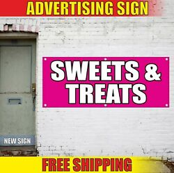 Sweets Treats Banner Advertising Vinyl Sign Flag Candy Bar Fair Delicious Party