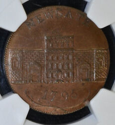 Conder Token Great Britain-middlesex 1795 Ms65 Bn Ngc Dh396b Newgate Finest Bn