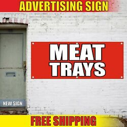 Meat Trays Banner Advertising Vinyl Sign Flag Served Cheese Fruit Catering Pack