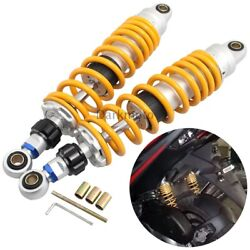 14 Adjustable Rear Suspension Air Shock Absorbers Universal For Atv Motorcycle
