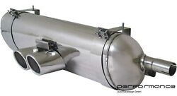Cargraphic Sport Exhaust Rear Silencer Stage 3 89mm For Porsche Boxster 986 / S