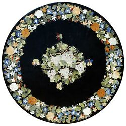 48 Marble Center / Coffee Table Top Floral Inlay Marquetry Home Decor