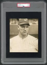 1923 Lou Gehrig Rookie Portrait - Possibly Earliest Yankees Photo PSADNA Type 1