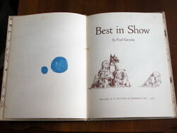 Vtg 1958 Best In Show Book Signed By Fred Gwynne Herman Munster To Jack Wohl