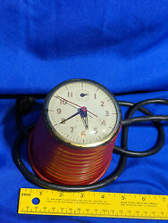 Rare Antique Red Sentinel Memo Kitchen Wall Clock Oven Timer Art Deco Beehive