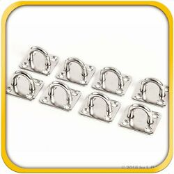 8 Stainless Steel 316 6mm Square Eye Plates 1/4 Marine Ss Pad Boat Rigging New