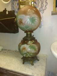 Antique Consolidated Gwtw Oil Lamp Original State Never Electrified