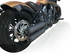 V-performance Exhaust Black Chubby For Indian Scout / Bobber / Sixty
