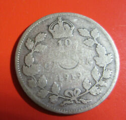 1919 - Canadian Silver Dime, Canada George V 10 Cents Box 2 20