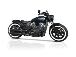V-performance Exhaust Black Double-ring For Indian Scout / Bobber / Sixty