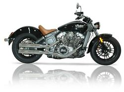 V-performance Exhaust Chrome Double-ring For Indian Scout / Bobber / Sixty