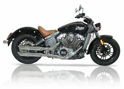 V-performance Exhaust Chrome Slash-cut For Indian Scout / Bobber / Sixty