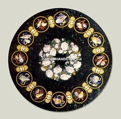 Round Marble Center Furniture Table And Free Marble Jewelry Box Inlay Home Decor