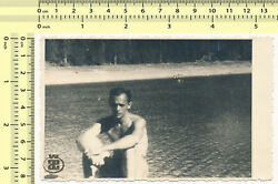 041 Surreal Abstract Beach Scene Unfocused Shirtless Guy Blurry Man Old Photo