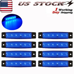 8x Boat Led Cabin Deck Courtesy Lights Stern Stair Starboard Transom Light Blue
