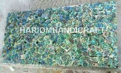 6and039x3and039 Marble Dining Table Top Pauashell Inlay Art Handmade Decoratives E1147b