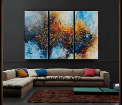 Multicolor Abstract Wall Art Framed Contemporary Art Original Painting On Canvas