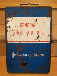 Johnson And Johnson Vintage General First Aid Kit Metal Box Prop