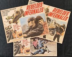 Angel Unchained Don Stroud Luke Askew Motorcycle 3 Mexican Lobby Cards 1970