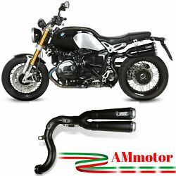 Mivv Bmw R Nine T 2018 18 Exhaust Motorcycle Slip-on X-cone Black Approved High