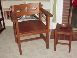 Antique Mission Style Oak Furniture 7 Pcs. Arts And Crafts Ohio Pick Up Only