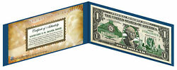Ohio State 1 Bill Us One-dollar Currency Green W/h Coa And Folio