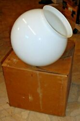 Vintage Nos Consolidated Lamp And Glass Co. Large Milk Glass Lamp Post Light Shade