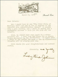Lady Bird Johnson - Typed Letter Signed 03/15/1979