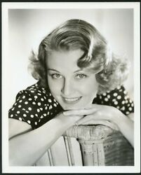Florence Rice Original Vintage 1930s Clarence Bull Stamp Mgm Portrait Dbwt Photo